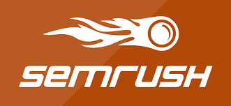 logo circle with flame like a comet being logo for semrush